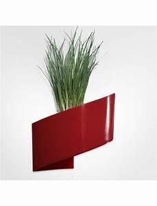 Pot De Fleur Rouge : pot de fleurs mural rouge brillant 16cm green turn bac fleurs design jardin concept ~ Melissatoandfro.com Idées de Décoration