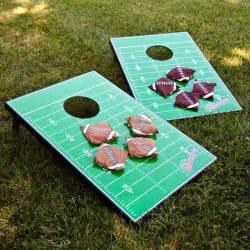 college registries sports football field tailgate toss set