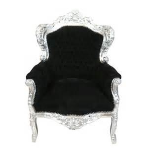 Fauteuil Royal by Fauteuil Baroque Royal Noir Et Argent Chaise Pouf Et