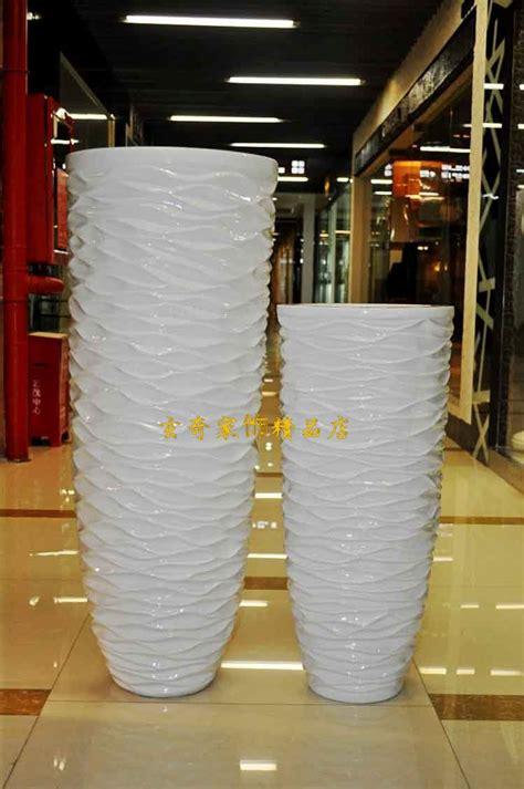 wavy white large floor vase modern fashion flower