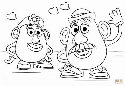 Potato Coloring Mr Head Mrs Pages Story