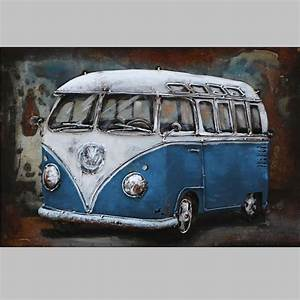 Vw Bus Neu : metallbild vw bus classic blau neu arta curiosa ~ Jslefanu.com Haus und Dekorationen
