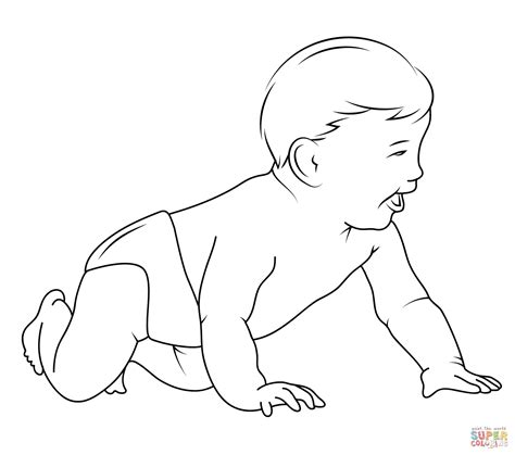 baby coloring page  printable coloring pages