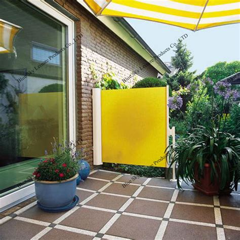 outdoor retractable wind screen side awning  balcony view awning blue sky product details