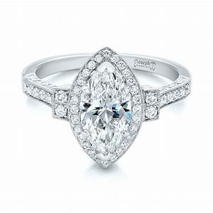 custom marquise diamond halo engagement ring 101998 With marquise diamond wedding rings