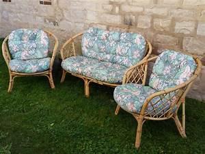 Salon Jardin Rotin : salon de jardin rotin bambou osier fauteuil banquette ~ Premium-room.com Idées de Décoration