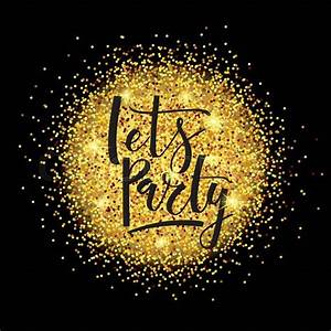 Hand sketched golden glitter round background for Party