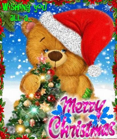 Christmas Teddy Ecard Merry Greetings Wishes Card