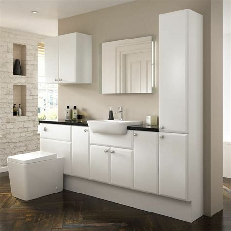 bargo saponetta matt white bathroom vanity units  sizes