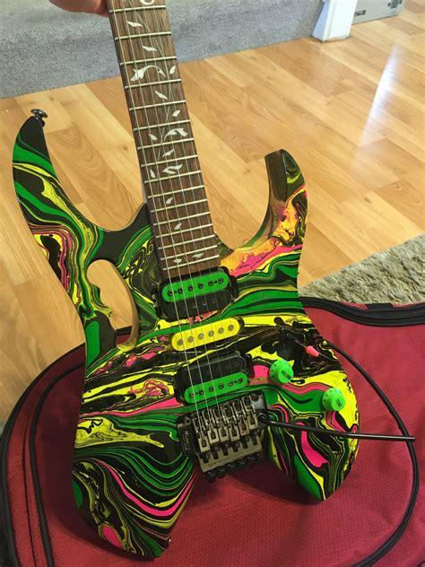Ibanez RG470 Custom Jem Voyager Mod Multi Swirl Guitar