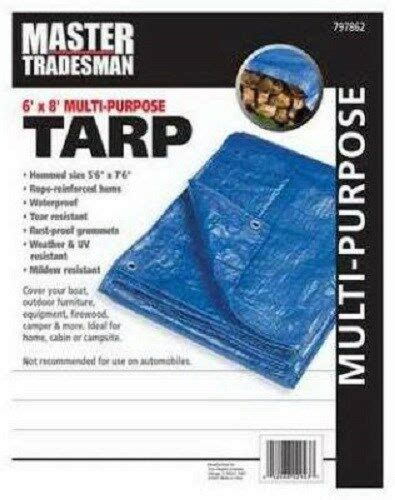 master tradesman    blue polyethylene storage