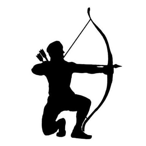 archer silhouette bowhunter unmounted hunting rubber stamp