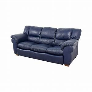 86 OFF Macy39s Macy39s Navy Blue Leather Three Cushion