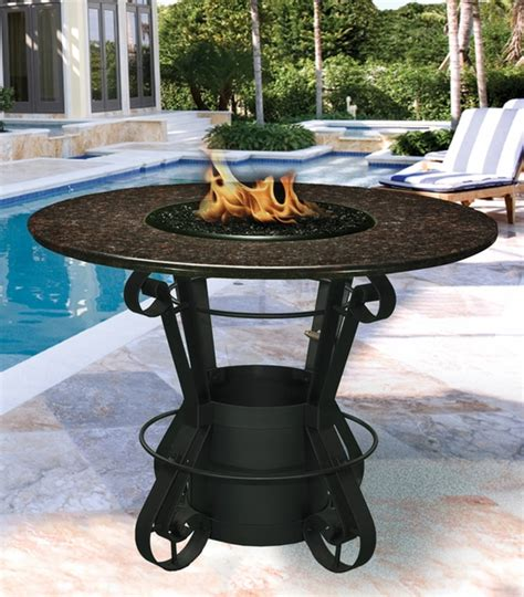 bar height patio table with pit california outdoor concepts 1030 solano bar height pit