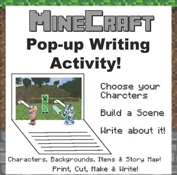 minecraft pop  writing activity     zebra tpt