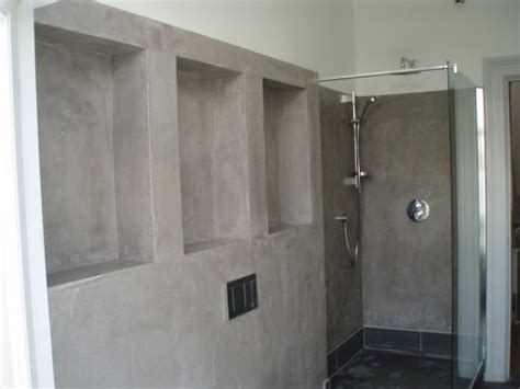 Gietvloer In Badkamer Glad by Cementgebonden Pleister Badkamer Nieuwe Foto Foto Aan