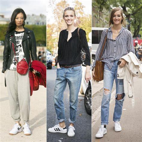 Zapatillas blancas tendencia de moda