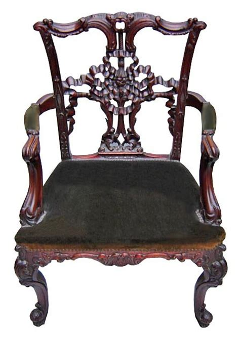set of 8 antique carved chippendale style dining chairs