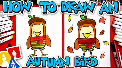 Draw Bird Autumn Hub Artforkidshub