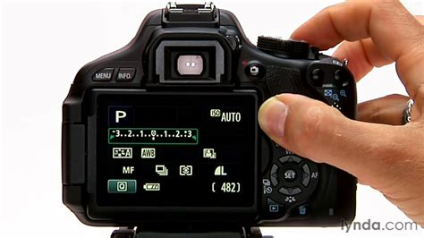 canon rebel tutorial how to use exposure compensation