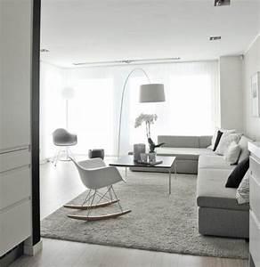 photo peinture salon gris et blanc latest salon gris With idee couleur peinture salon 3 un salon en gris et blanc cest chic voil224 82 photos qui