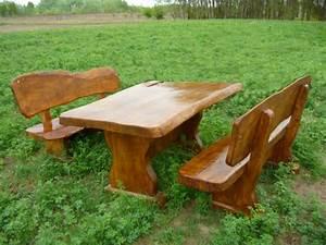 Wunderschoner tisch mit rustikalen sesseln mit for Französischer balkon mit garten holztisch