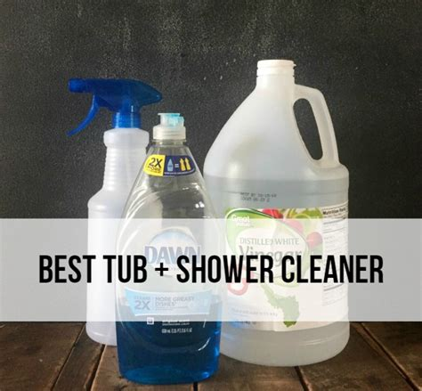 best tub cleaner best tub and shower cleaner rad the rest