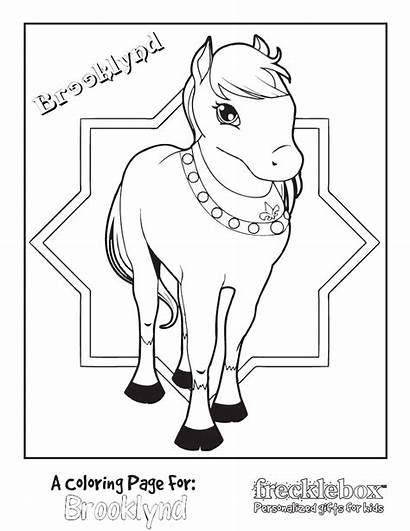 Coloring Pony Princess Pages Personalized Party Carriage