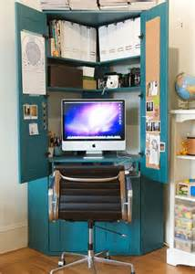 home office ideas conceal it in an armoire