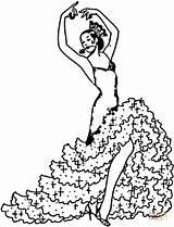 Danseuse Coloriage Dessin Desenhos Flamenco Colorir Adultos Espagnole Coloring sketch template