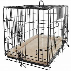 Pet dog cat cage crate kennel and bed cushion warm soft for Bedside dog crate