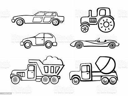 Truck Coloring Cars Pages Cartoon Outline Tractor