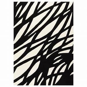 Tapis Rond Noir Et Blanc : tapis contemporain noir et blanc optical art par arte espina ~ Dailycaller-alerts.com Idées de Décoration