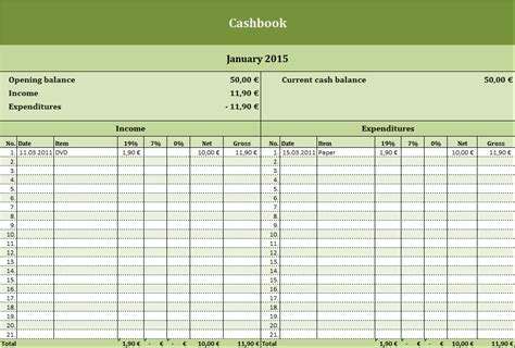 cashbook template nz free cashbook excel templates for every purpose
