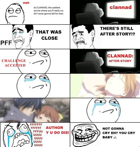 Clannad Memes - clannad author you win this time quickmeme