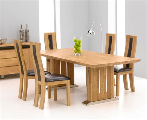 tavio oak chrome dining table 225cm 6 santander