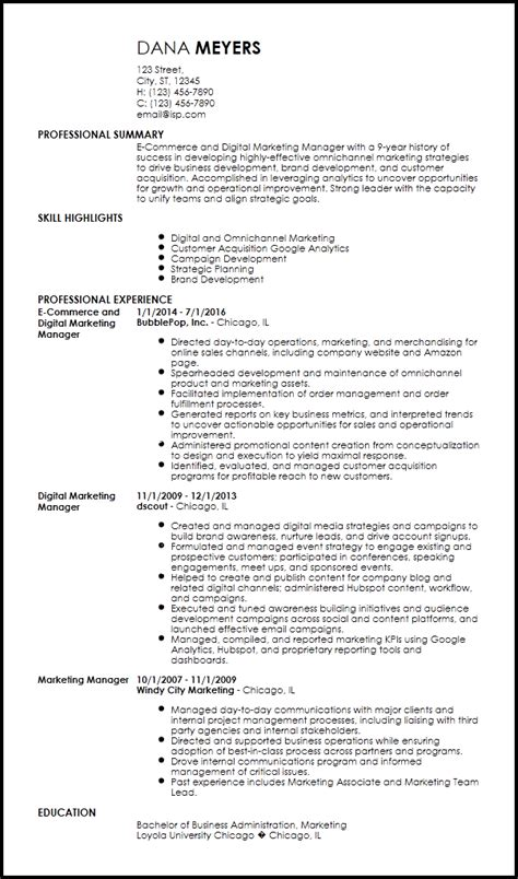 free contemporary marketing resume templates resume now