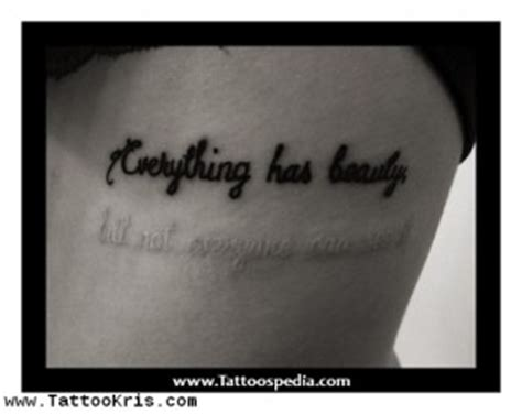 Four Words Quotes Tattoos