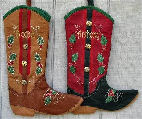 cowboy cowgirl christmas stockings personalized country