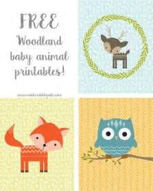 free printable woodland animals for and nursery