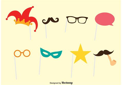 photobooth party vector set   vectors