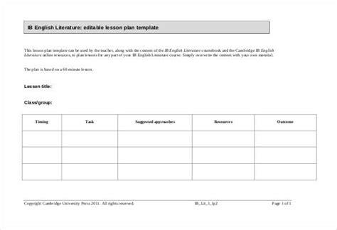 editable lesson plan template 50 lesson plan templates pdf doc excel free premium templates