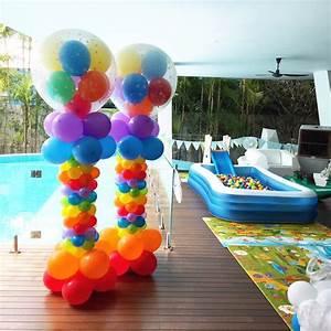 Rainbow Balloon Pillars Singapore THAT Balloons