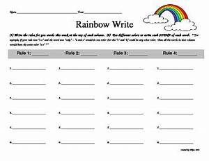 rainbow writing spelling words template - rainbow write word work by doted materials teachers pay
