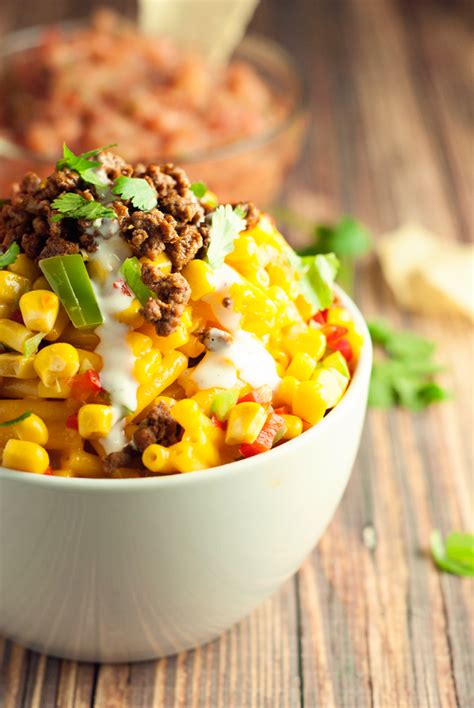 In a slow cooker, combine cheese/butter mixture and add the sour cream, soup, salt, milk, mustard and pepper and stir well. Mexican Mac & Cheese - A Simple Pantry | Beef recipes, Food, Mac and cheese homemade