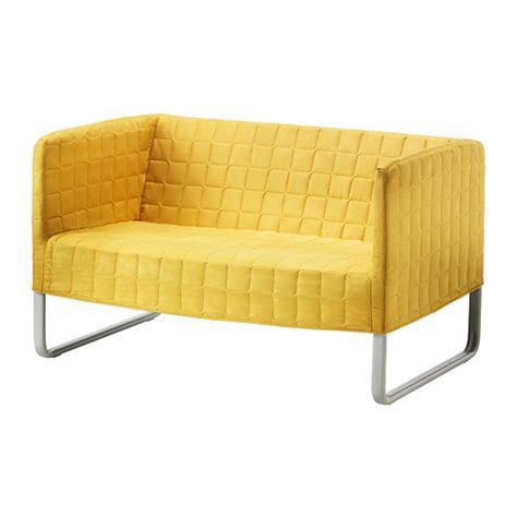 knopparp two seat sofa bright yellow ikea - Kleines Sofa Ikea