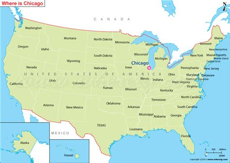 Where is Chicago, IL? / Where is Chicago Located in the US Map