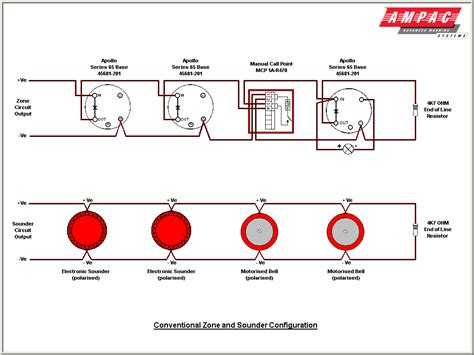wiring diagram for alarm system and in smoke detector