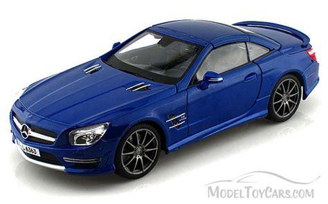car toy blue mercedes benz sl 63 amg blue maisto premiere 36199 1