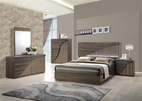 A Bedroom by Contemporary Gold Zebra Led Bedroom Set Houston